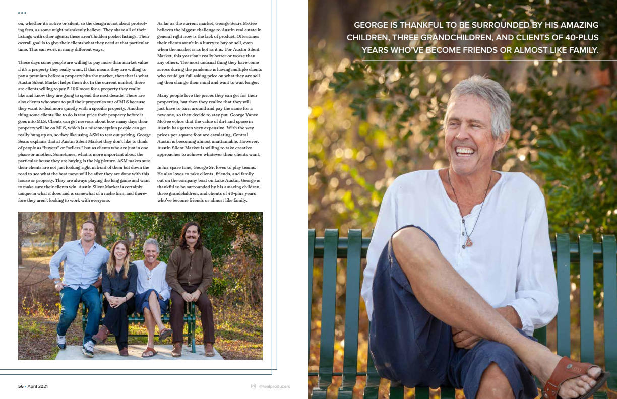 Austin Real Producers Magazine Features George Sears McGee